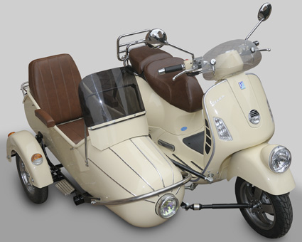 vespa 125 side car